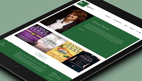 Tablet responsive Ki Agency website design