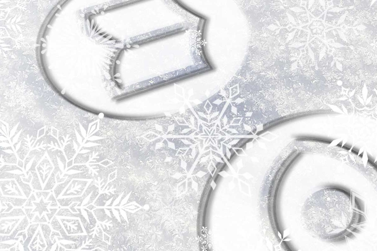 Right Angle Creative Christmas themed set of icons with snowflakes