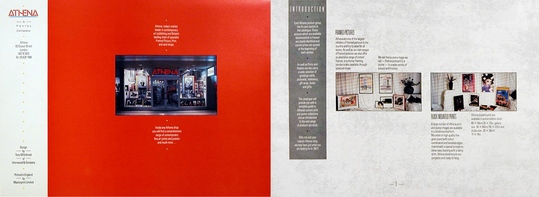 Athena catalogue spread design introduction page