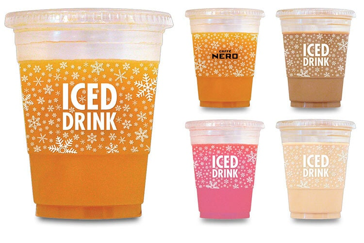 Caffe Nero Iced drink cup packaging design