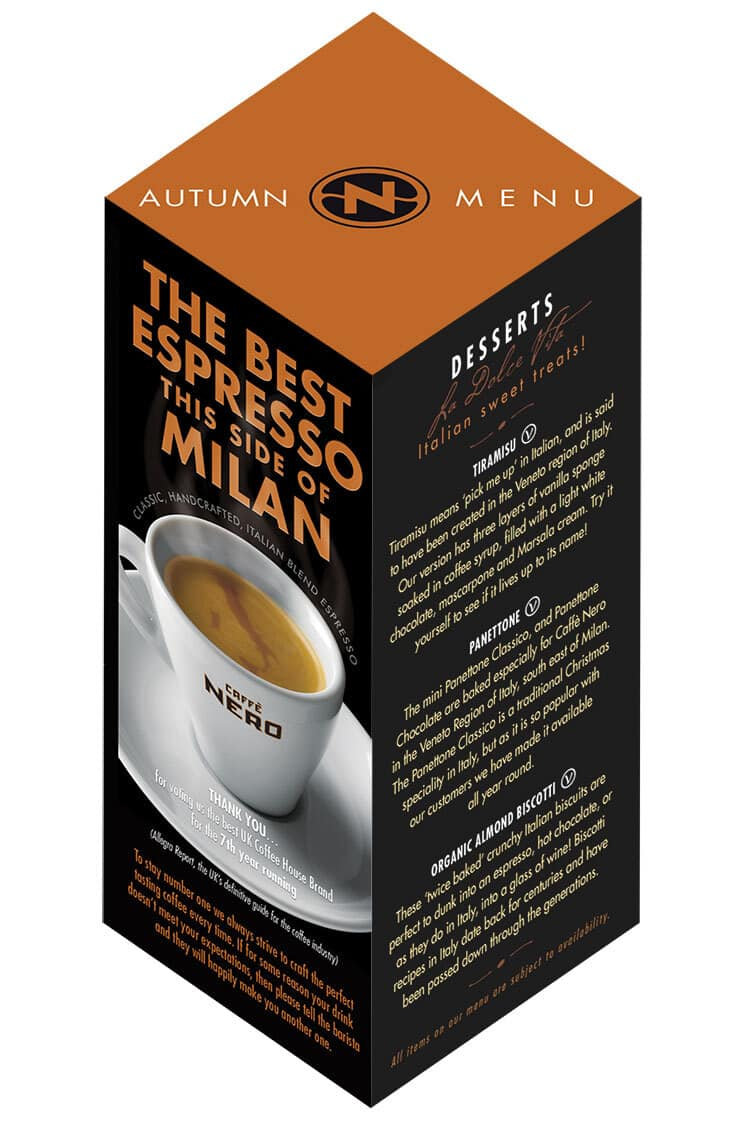 Caffè Nero Espresso Milan promotion cube