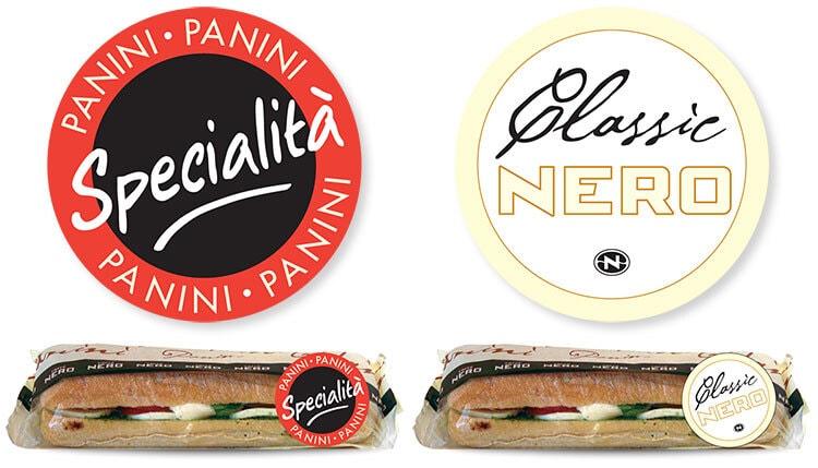 Panini sandwiches promotion design and stickers design for Caffè Nero