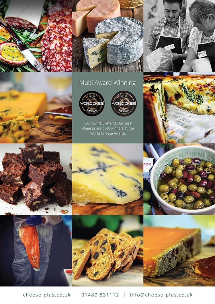 Artwork of grided image layout of Cheese and lifestyle pictures for the Front cover of the Cheese+ wiro bound customer price list