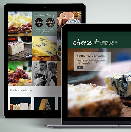Laptop and Tablet responsive website design for Cheese Plus Thumbnail