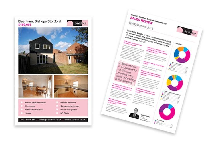 Sales letting print design for David Lee Estates