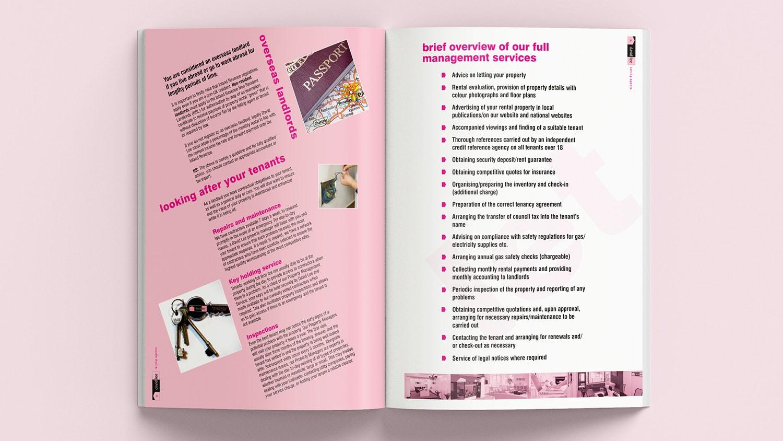 Brochure spread design for David Lee Estates Brochure