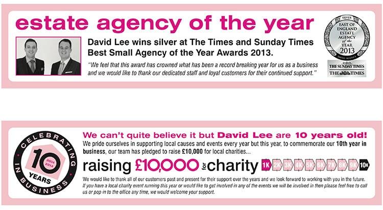 David Lee Estates e-advert campaign design