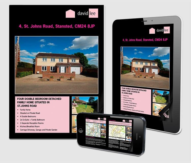 Responsive website design for David Lee Estates shown on mobile and tablet devices