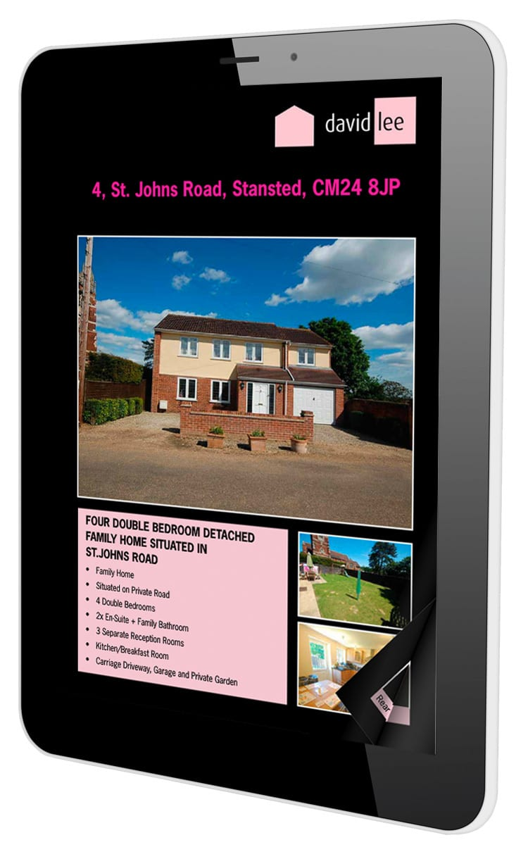 Tablet displaying David Lee Estates responsive website in portrait view