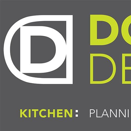 Domicile Design reversed logo with strapline Thumbnail