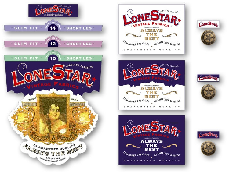 Lonestar jeans logo design for Dorothy Perkins