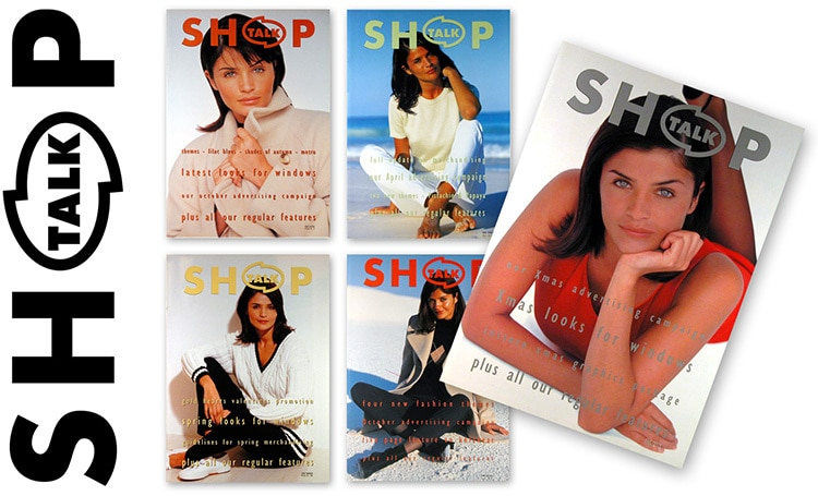 Shop Talk Magazine front cover and magazine designs for Dorothy Perkins