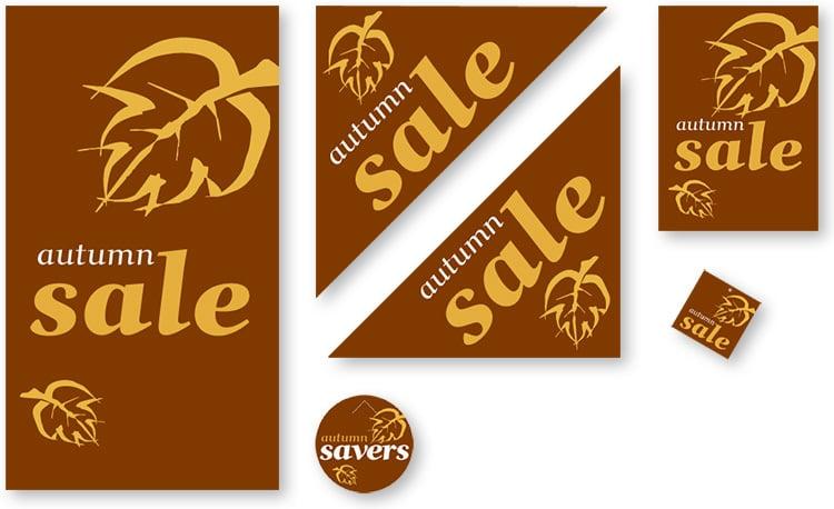 Dorothy Perkins Autumn sale promotional design materials