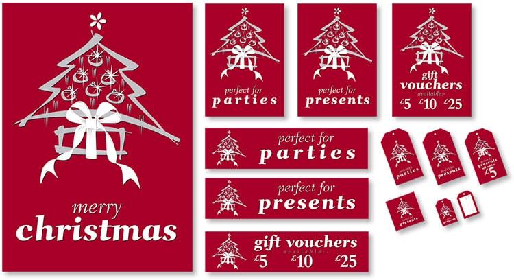 Christmas promotion design for Dorothy Perkins
