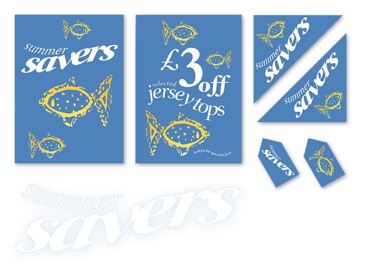 Dorothy Perkins Summer savers promotion design materials