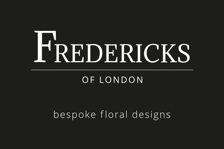 Flat artwork of front Fredericks of London Business card design