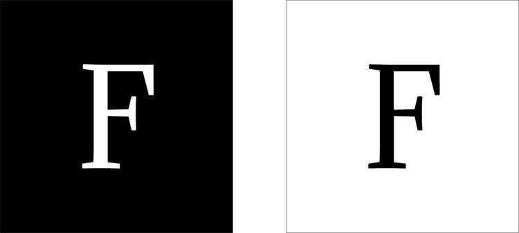 Square Fredericks of London symbols branding design black and white