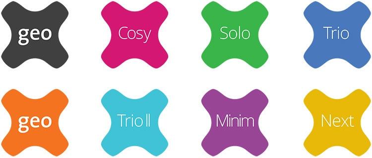 GEO symbol different design variations
