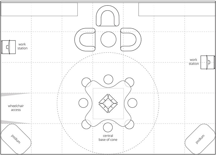 Exhibition Design flat plan view for GEO smarter energy Vienna Exhibition without graphics