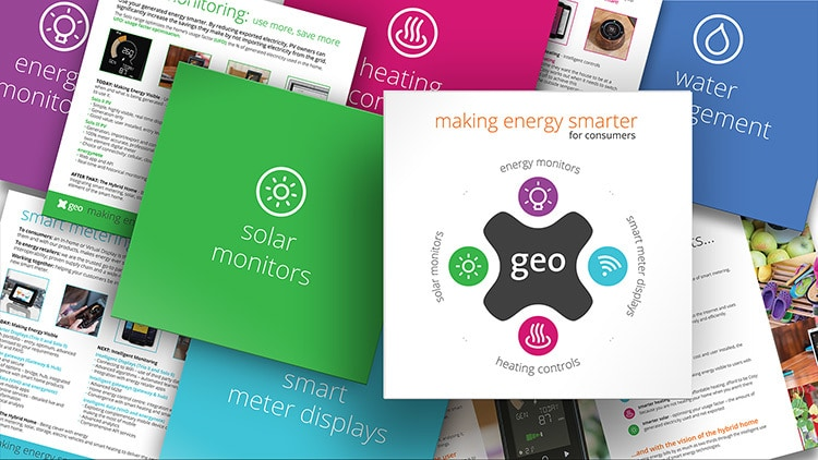 Collection of Cosy brochure print design showing front and spreads of the brochure