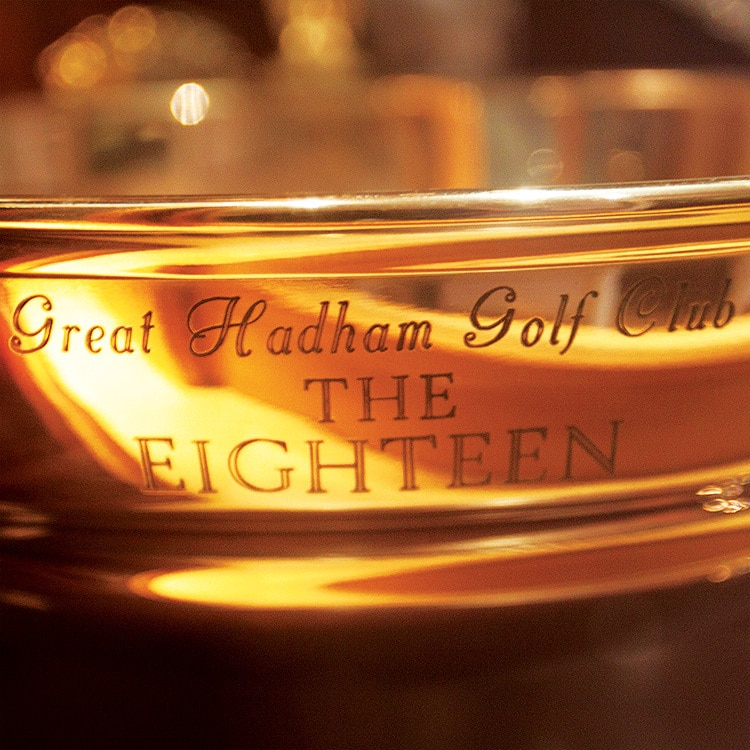 The Eighteen trophy close up for Great Hadham Country Club