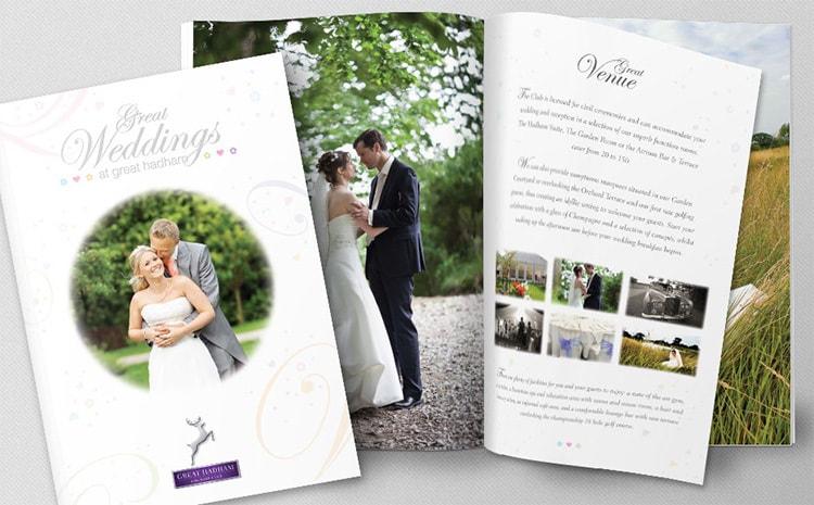 Great Weddings Brochure print design for Great Hadham Country Club