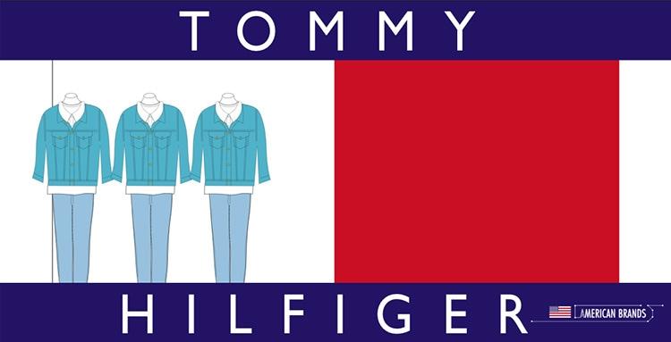 House of Fraser Print Design communication booklet installation of window displays for Tommy Hilfiger