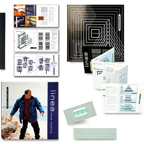Linea Magazine and brochure with acrylic sandblasted box Print Design for House of Fraser Thumbnail