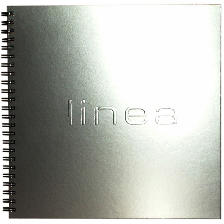 Linea wiro bound brochure front cover with embossed Linea logo Print Design for House of Fraser
