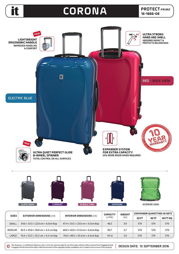 Amsterdam portrait core presentation sheet Print design for IT Luggage
