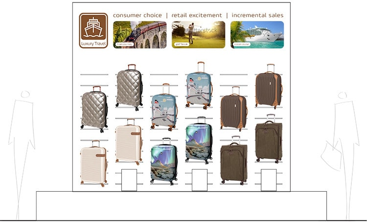 Exhibition Stand Luxury Travel design for IT Luggage