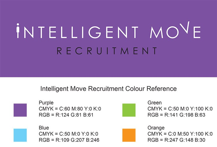 Corporate Colour Reference for Intelligent Move Recruitment
