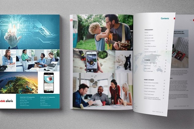2018 Annual Report Spread showing table of contents