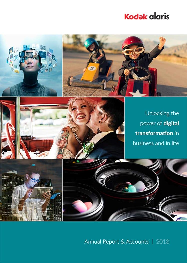 2018 Kodak Print Design Annual Report front cover flat artwork design