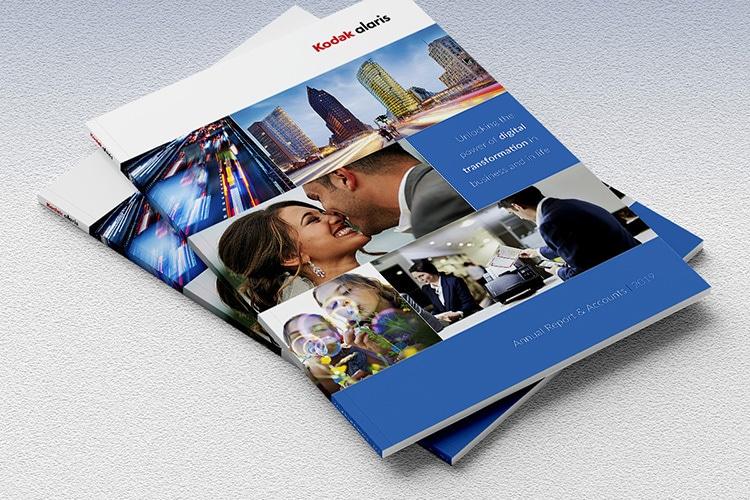 Front cover design for 2019 Kodak Print Design Annual Report