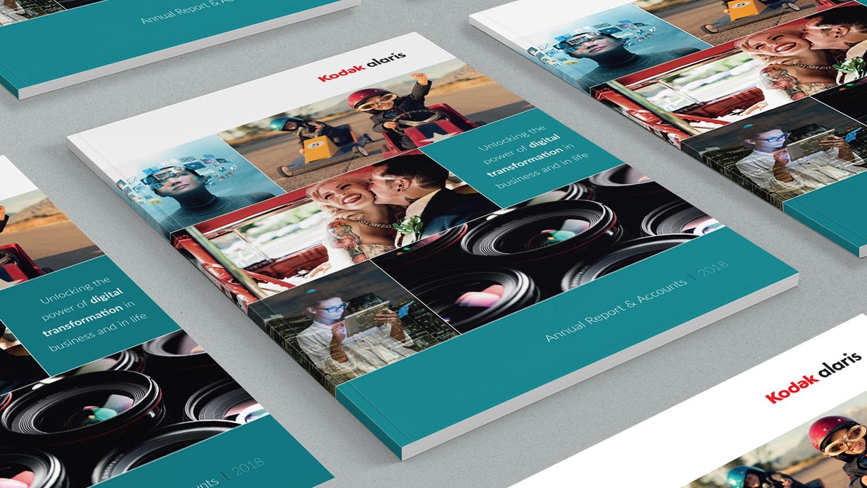 2018 Kodak perfect bound Annual Report print design