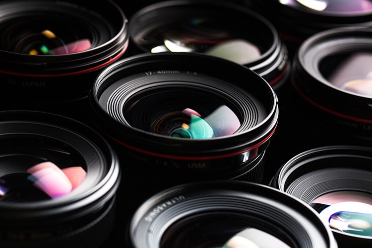 Close up of different lens with glare photography for Kodak Alaris