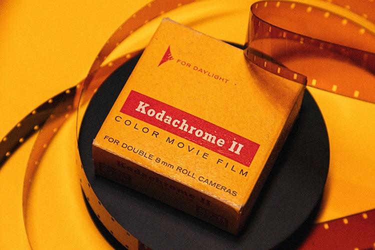Close up of old KodakChrome II camera film photography for Kodak Alaris