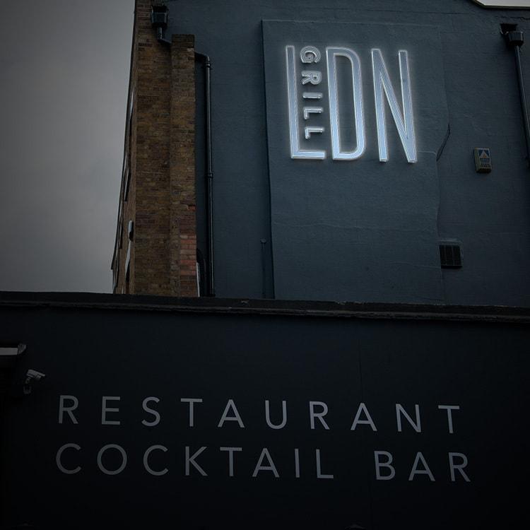 LDN Grill Restaurant 3D Wall Illuminated Sign