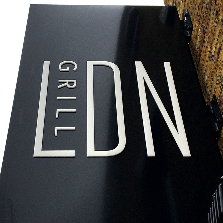 Restaurant Projecting Sign for LDN Grill