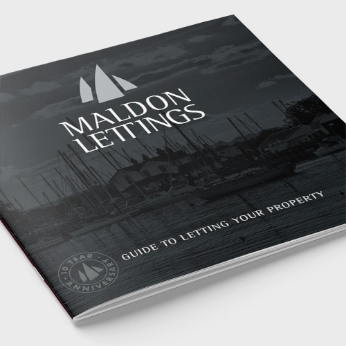 Front cover of Maldon Lettings brochure showing a picture of the docks Thumbnail