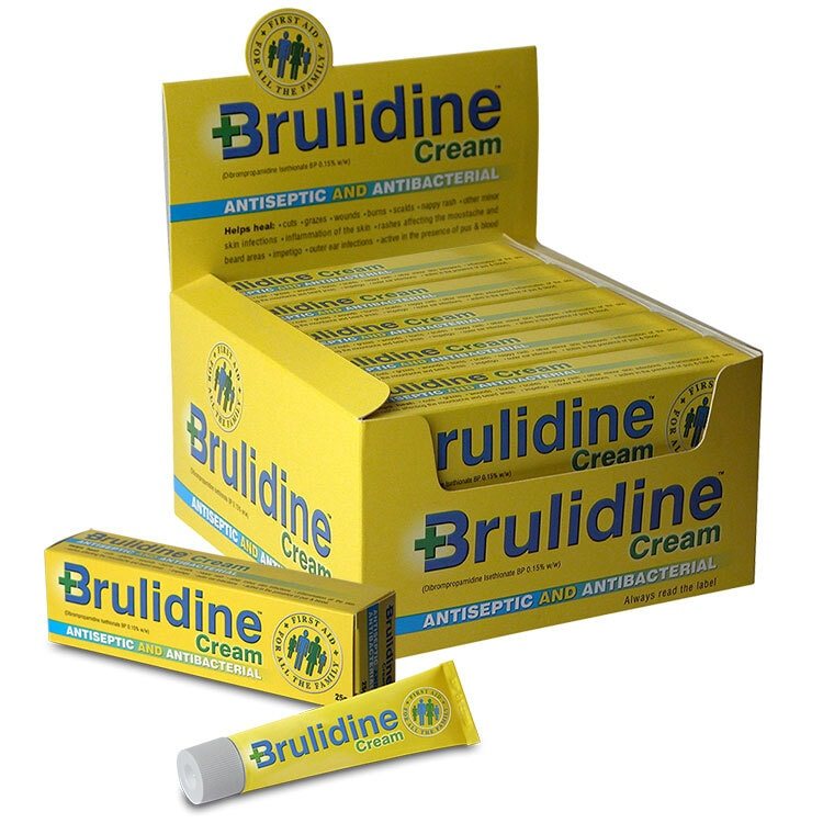 Brulidine Cream display box, carton and tube packaging design for Manx Healthcare
