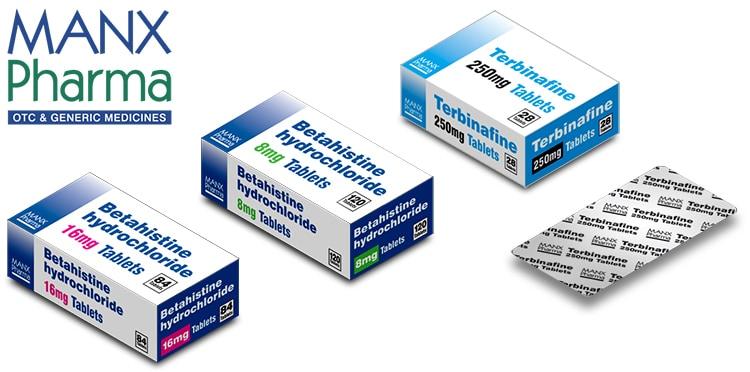 Manx Healthcare generic packs for medicine Packaging Design