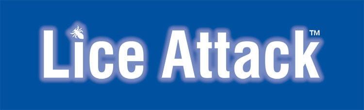 Logo design for Lice Attack reversed