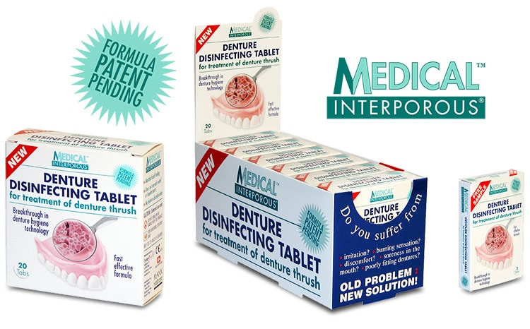 Medical Interporous display and box packaging design for Manx Healthcare product launch
