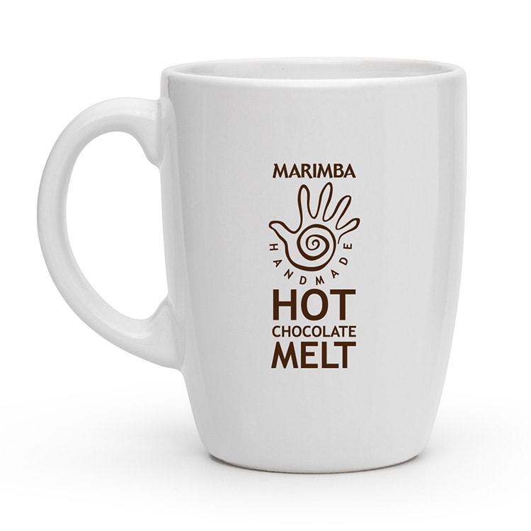 Marimba branded tall mug back