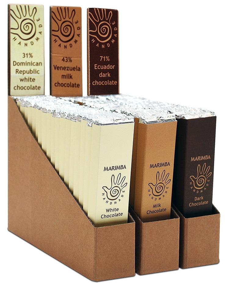 Display packaging design for Marimba hot chocolate melt