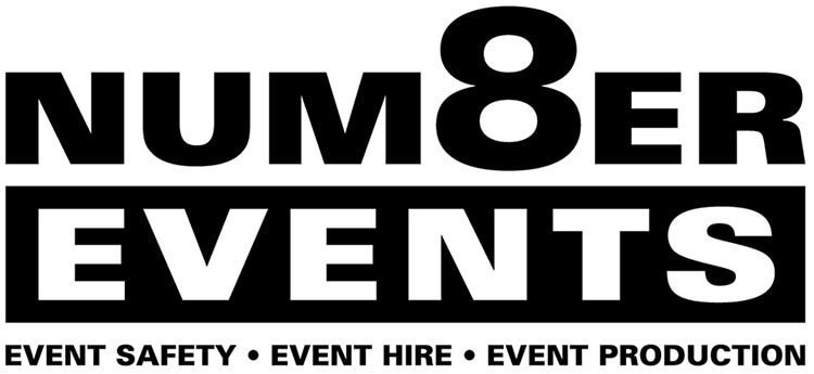 Number 8 Events branding with strapline