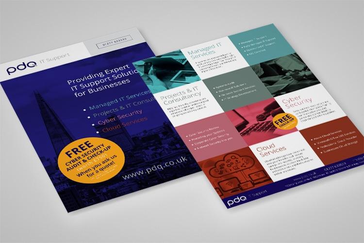 Promotional Leaflet design for PDQ