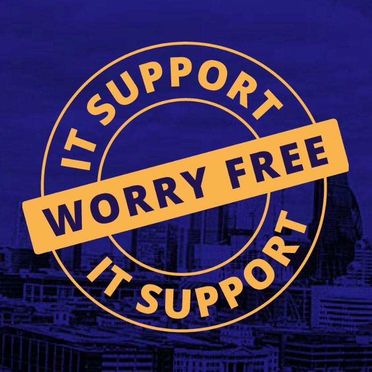 Worry-free support stamp design for PDQ leaflet promotional design